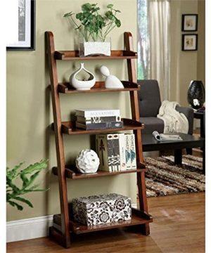 Bowery Hill 5 Shelf Bookcase In Vintage Oak 0 300x360