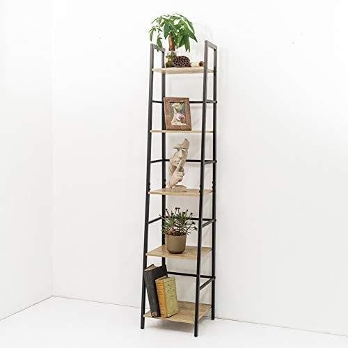 5-Tier Ladder Shelf Bookcase Bookshelf Storage Rack Plant Stand Corner Display
