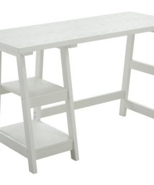 Convenience Concepts Designs2Go Trestle Desk White 0 300x360