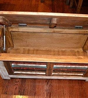 Crafters And Weavers Rustic Distressed Reclaimed Solid Wood Painted Trunk Coffee Table 0 3 300x333
