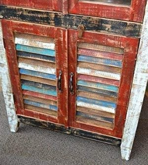 Crafters And Weavers Rustic Distressed Reclaimed Wood Curio Glass Cabinet Bookcase Hutch 0 1 300x333