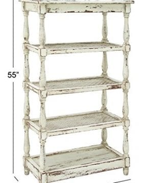 Deco 79 44419 Tall Distressed White