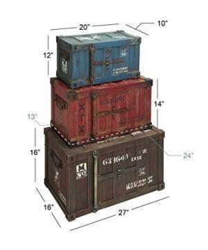 Deco 79 69225 Wood Trunks Set Of 3 272420 Multicolor 0 2 300x360