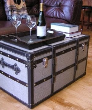 Decorative Vienna Large Wood Steamer Trunk Wooden Treasure Hope Chest 0 0 300x360