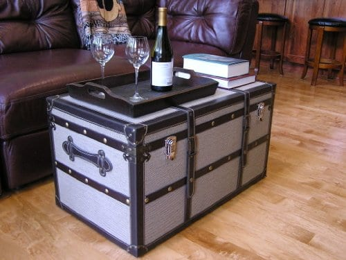 Decorative Vienna Large Wood Steamer Trunk Wooden Treasure Hope Chest 0 0