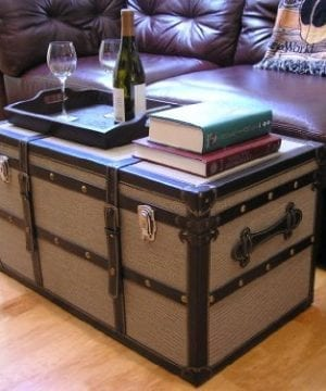 Decorative Vienna Large Wood Steamer Trunk Wooden Treasure Hope Chest 0 1 300x360