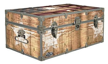 Designer Trunk Fourth Of July Americana Storage Trunk Rustic Americana 32x18x135 Inches 0 1