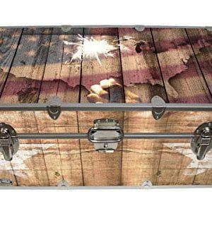 Designer Trunk Fourth Of July Americana Storage Trunk Rustic Americana 32x18x135 Inches 0 300x333