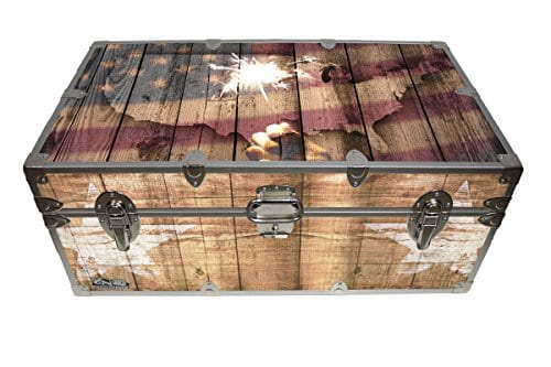 Designer Trunk Fourth Of July Americana Storage Trunk Rustic Americana 32x18x135 Inches 0