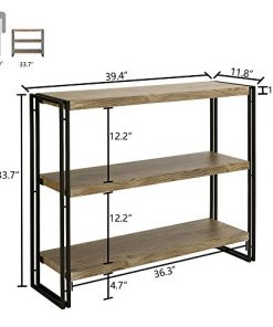 FiveGiven 3 Tier Bookshelf Rustic Industrial Bookcase With Modern Open Wood  Shelves, Sonoma Oak   Farmhouse Goals