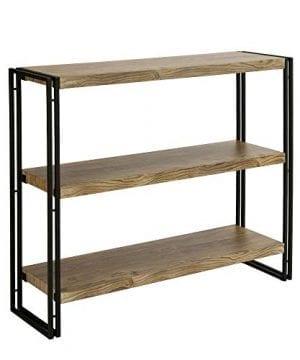 FIVEGIVEN 3 Tier Bookshelf Rustic Industrial Bookcase With Modern Open Wood Shelves Sonoma Oak 0 300x360