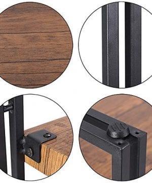 FIVEGIVEN 4 Tier Bookshelf Rustic Industrial Bookcase With Modern Open Wood Shelves Brown 0 2 300x360