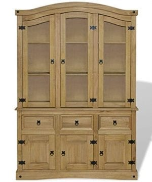 Festnight Buffet Server Sideboard And Hutch With Storage Drawers And Cabinet Mid Century Free Standing Wood Display Cabinet For Kitchen Dining Room Living Room Home Furniture 0 300x360