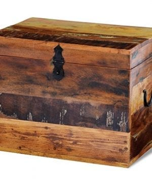 Festnight Reclaimed Solid Wood Storage Box Wooden Trunk Chest Case Cabinet Container With Handles For Bedroom Closet Home Organizer Collection 15 X 11 X 12 Inches 0 0 300x360