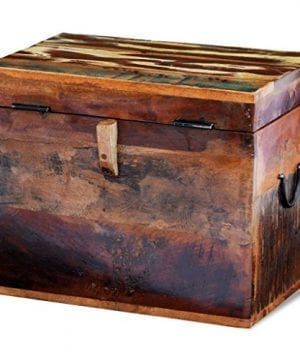 Festnight Reclaimed Solid Wood Storage Box Wooden Trunk Chest Case Cabinet Container With Handles For Bedroom Closet Home Organizer Collection 15 X 11 X 12 Inches 0 1 300x360