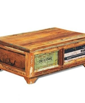 Festnight Vintage Storage Cabinet Box Reclaimed Wood Coffee Table Tea End Table Pure Handmade For Home Office Living Room Furniture 0 3 300x360
