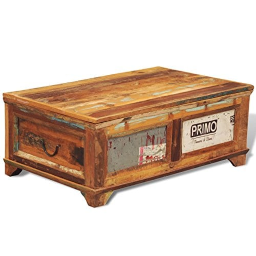 Storage Coffee Table Farmhouse: Festnight Vintage Storage Cabinet Box Reclaimed Wood