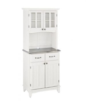 Home Styles 5001 0023 22 Buffet Of Buffet 5001 Series Stainless Top Buffet Server And Hutch White 29 14 Inch 0 300x360