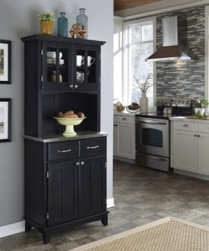 Home Styles 5001 0043 42 Buffet Of Buffet 5001 Series Stainless Top Buffet Server And Hutch Black 29 14 Inch 0 0 300x360