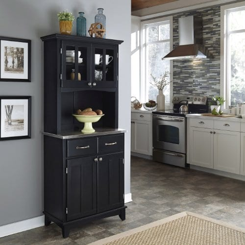 Home Styles 5001 0043 42 Buffet Of Buffet 5001 Series Stainless Top Buffet Server And Hutch Black 29 14 Inch 0 0