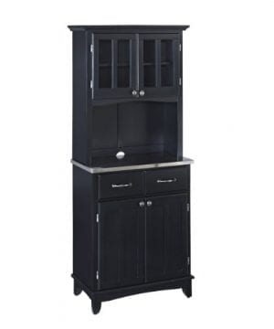 Home Styles 5001 0043 42 Buffet Of Buffet 5001 Series Stainless Top Buffet Server And Hutch Black 29 14 Inch 0 300x360