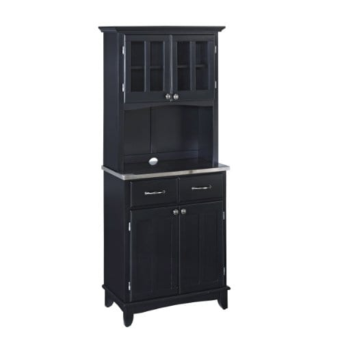 Home Styles 5001 0043 42 Buffet Of Buffet 5001 Series Stainless Top Buffet Server And Hutch Black 29 14 Inch 0