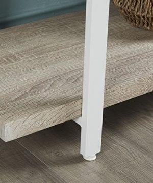 Homissue 4 Shelf Modern Style Bookshelf Light Oak Shelves And White Metal Frame Open Bookcases Furniture For Home Office 549 Height 0 2 300x360