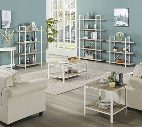 white open bookcase bookshelf