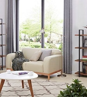 Homissue 4 Tier Industrial Style Bookshelf Wood And Metal Bookcases Furniture For Collection Retro Brown 0 0 300x334
