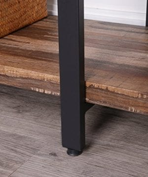 Homissue 4 Tier Industrial Style Bookshelf Wood And Metal Bookcases Furniture For Collection Retro Brown 0 2 300x360