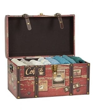 Household Essentials 9245 1 Medium Decorative Home Storage Trunk Luggage Style Coffee Shop Design 0 0 300x360