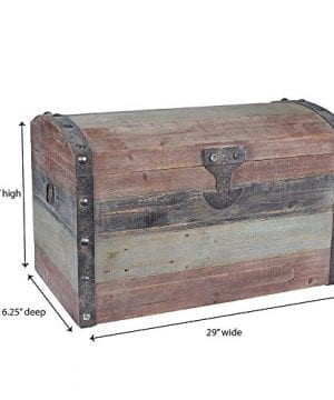 Household Essentials Stripped Weathered Wooden Storage Trunk Large 0 2 300x360