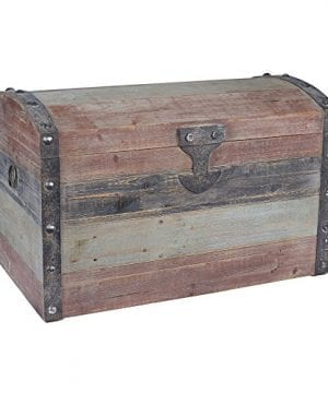 Household Essentials Stripped Weathered Wooden Storage Trunk Large 0 300x360