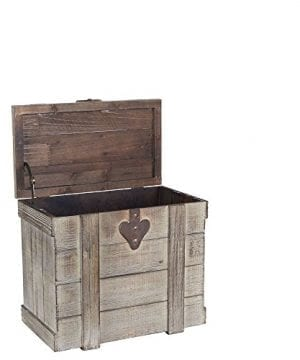 Household Essentials White Washed Rustic Decorative Wooden Trunk Small 0 0 300x360