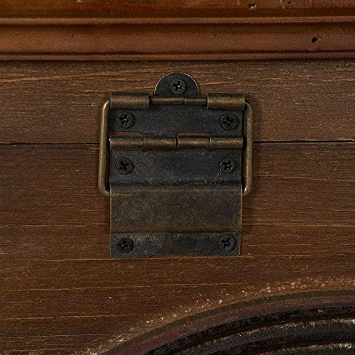 Household Essentials Wooden Arch Trunk Storage Chest Large Brown 0 1
