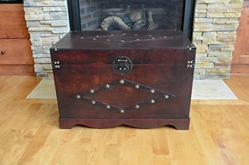Jamestown Chest Wooden Steamer Trunk Large Trunk 0 0