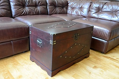Jamestown Chest Wooden Steamer Trunk Large Trunk 0 1