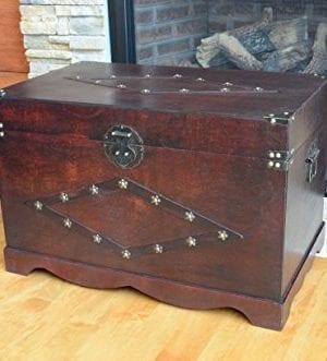 Jamestown Chest Wooden Steamer Trunk Large Trunk 0 300x331