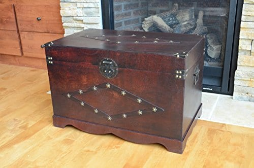 Jamestown Chest Wooden Steamer Trunk Large Trunk 0