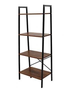 LASUAVY Ladder Shelf Vintage Bookshelf Functional Bookcase Book Shelves 0 300x360
