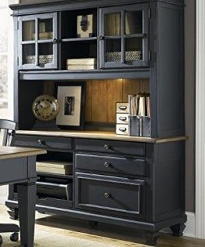 Liberty Furniture Industries 641 HOJ JEC Bungalow II Jr Executive Credenza Driftwood Black Finish 0 300x360