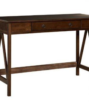 Linon Home Dcor 86154ATOB 01 KD U Linon Home Decor Antique Tobacco Titian 4598 X 20 X 30 Desk 0 300x360