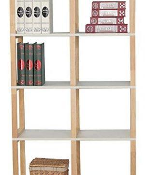 Magari Furniture YC1614 Multipurpose Storage Bookcase Organizer WhiteNatural 0 300x360