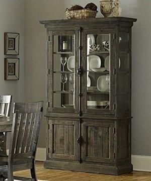 Magnussen Bellamy Wood China Cabinet In Pine 0 300x360