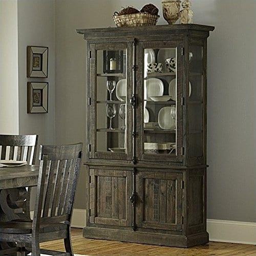 Magnussen Bellamy Wood China Cabinet In Pine 0