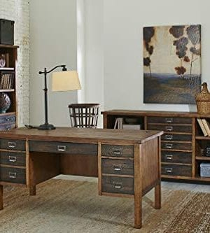 Martin Furniture IMHE660 Heritage Half Pedestal Desk 0 0 300x333