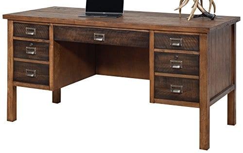 Martin Furniture IMHE660 Heritage Half Pedestal Desk 0