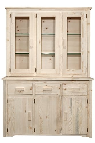 Montana Woodworks MWHCCHLD Homestead Collection China Hutch Sideboard Ready To Finish 0