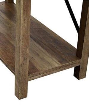 Pemberly Row 64 Metal X Bookcase In Rustic Oak 0 1 300x360