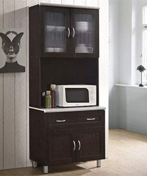 Pemberly Row Kitchen Cabinet In Chocolate Gray 0 0 300x360